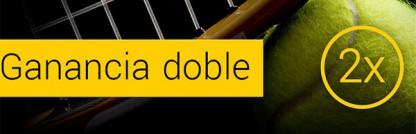 Ganancias dobles en el partido Nadal vs Youzhny  con bwin